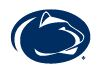 Nittany Lion Intercollegiate Athletics logo in blue oval.