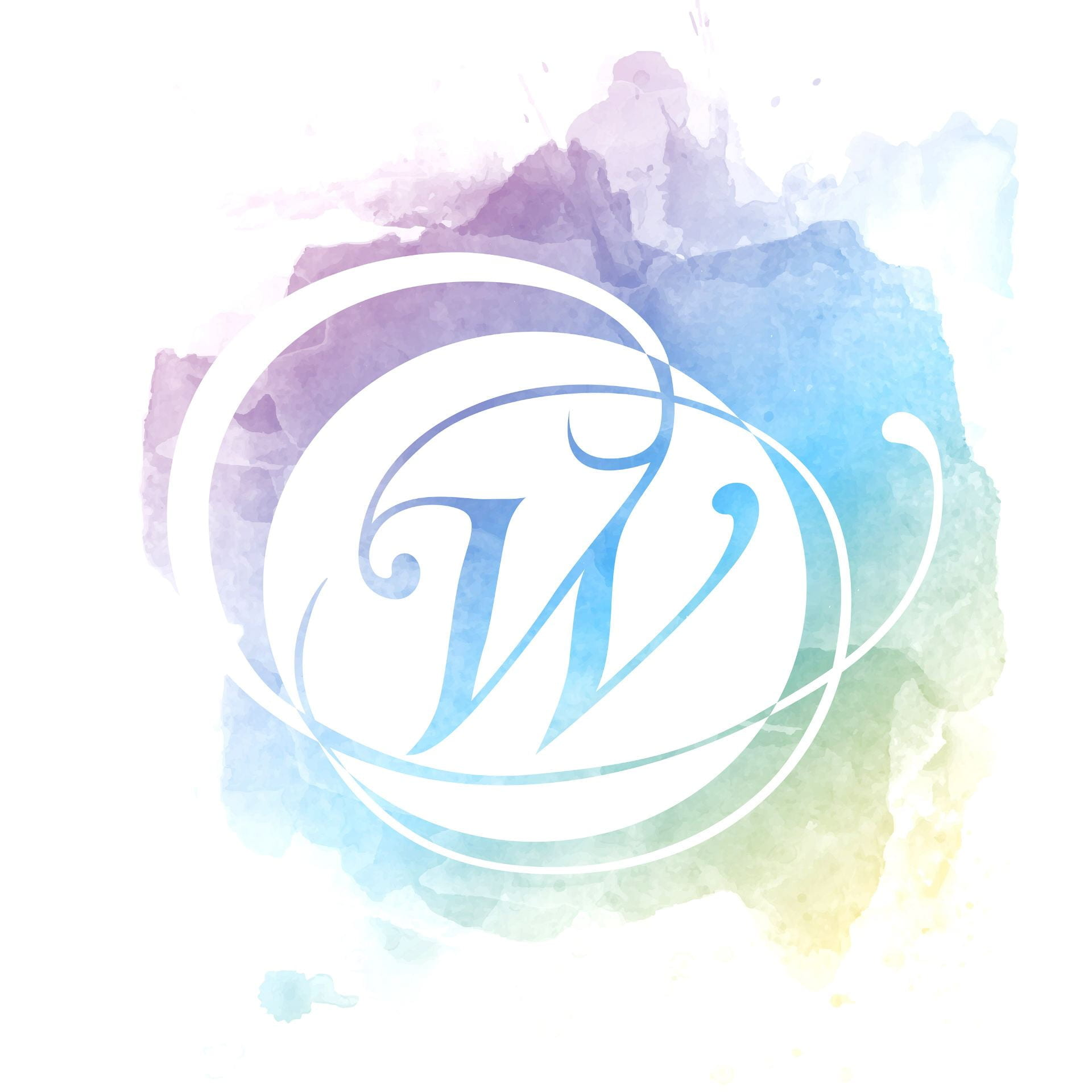 The Penn State Commission for Women logo includes a stylized cursive W with swirls around it on a pastel watercolor background.